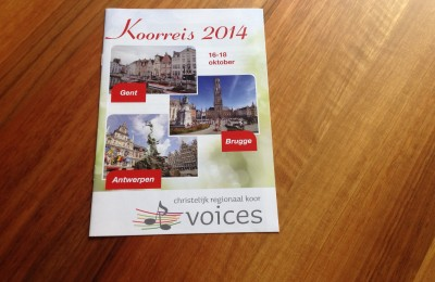 Programmaboekje Koorreis CRK Voices