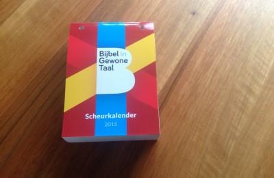 Scheurkalender Bijbel in Gewone Taal 2015