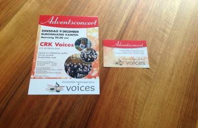 Posters, flyers en entreekaartjes CRK Voices