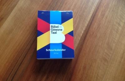 Scheurkalender Bijbel in Gewone Taal 2016